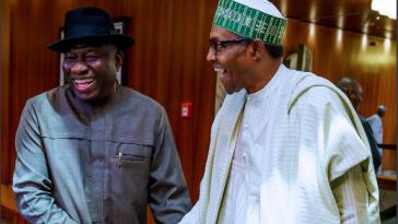 President Buhari Hosts Ex-President Goodluck Jonathan In Close Door Meeting [Photos] 5