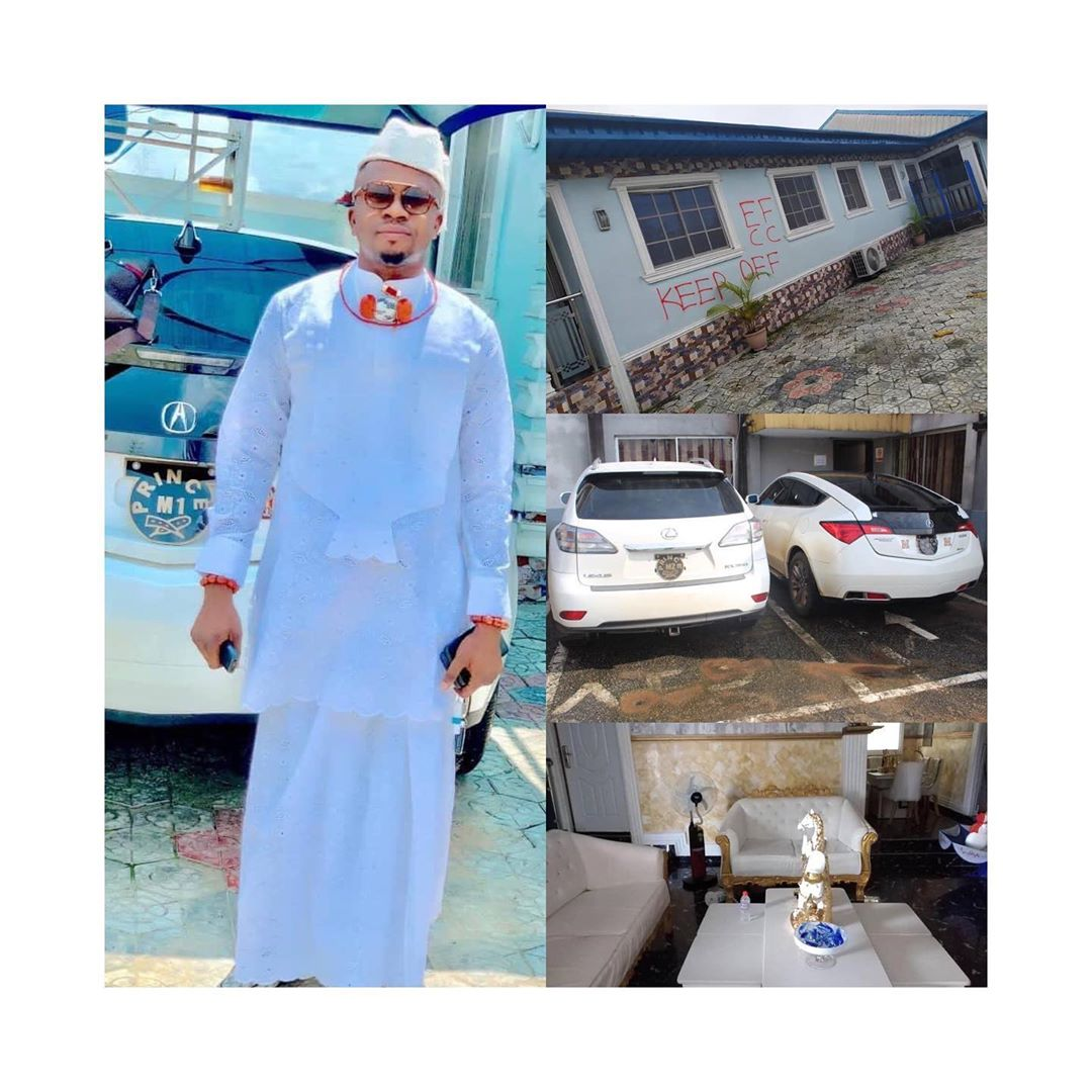 EFCC Arrests Delta Chief For Internet Fraud, Seize His Expensive Cars And Mansion [Photos] 2