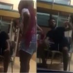 Angry Female Student Beats Up Boyfriend With Slippers For Cheating On Her [Video] 27