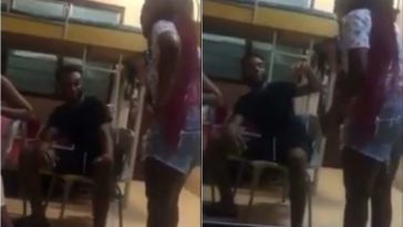 Angry Female Student Beats Up Boyfriend With Slippers For Cheating On Her [Video] 6