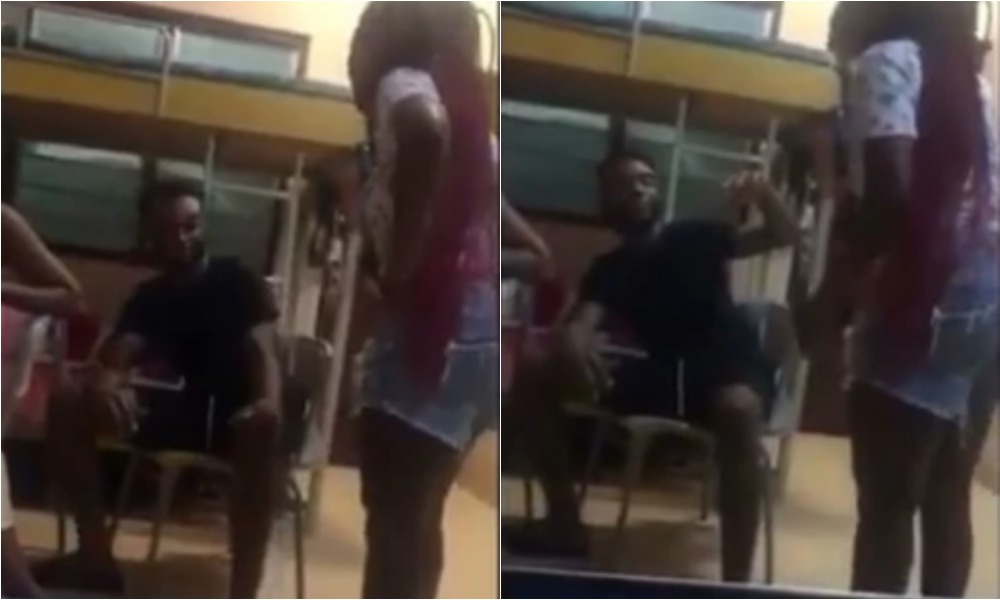 Angry Female Student Beats Up Boyfriend With Slippers For Cheating On Her [Video] 1