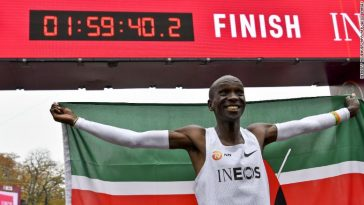 Eliud Kipchoge Becomes First Athlete In History To Run A Marathon In Less Than Two Hours 1