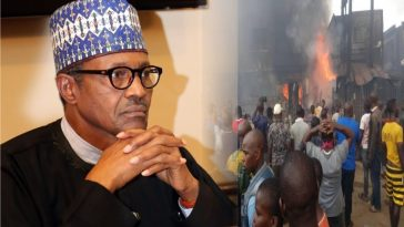 Buhari Sympathizes With Onitsha Fire Victims, Says Death Of Mum And Her Child Is Sad 3