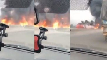 BREAKING: Another Fuel Tanker Is Currently Burning Along Lagos-Ibadan Express Way [Video] 5
