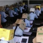 School Makes Students Wear Cardboard Boxes To Prevent Exam Malpractice [Photos] 27