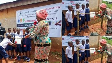 Enugu First Lady Commissions Tippy Taps For Primary Schools To Aid Hand Washing [Photos] 3