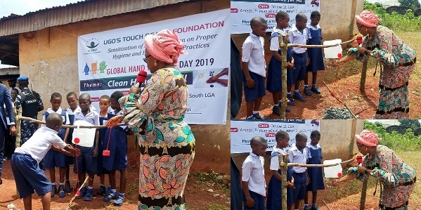 Enugu First Lady Commissions Tippy Taps For Primary Schools To Aid Hand Washing [Photos] 1