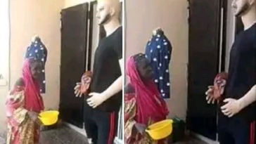 Elderly Woman Spotted Begging A 'Mannequin' For Money In Front Of A Clothing Store [Photos] 9