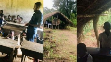 Photos Of Cross River Primary School Where Pupils Learn Under A Thatched Hut 2