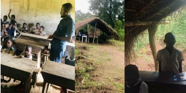 Photos Of Cross River Primary School Where Pupils Learn Under A Thatched Hut 1