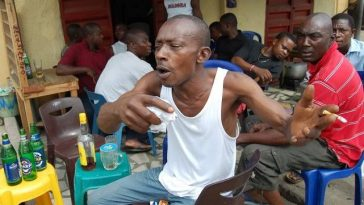 Drama As Ekiti Deputy Governor Catches Residents Drinking 'Ogogoro' During Sanitation Hours 1