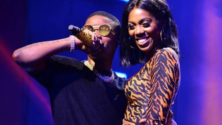 Wizkid Holds Tiwa Savage's Bum, Kisses Her On Stage During Performance In France [Video] 1