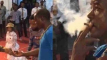 Pastor Obofour Forces Man To Smoke Weed During Church Service [Video] 3