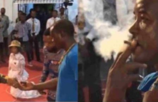 Pastor Obofour Forces Man To Smoke Weed During Church Service [Video] 1