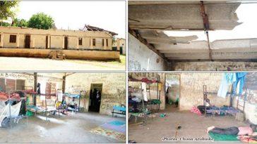 PHOTOS: Gombe Boarding School Where Students Sleep Under Open Roof, Pray Against Rainfall 7