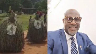 Melaye Takes Campaign To Another Level As Masquerades Spotted Carrying His Poster [Video] 2