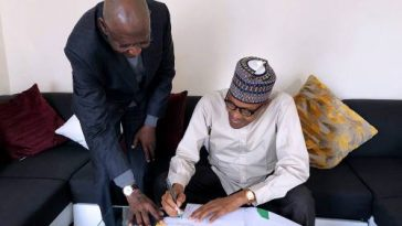 Abba Kyari Ignores Osinbajo In Nigeria, Takes Bill To Buhari In London To Sign 6