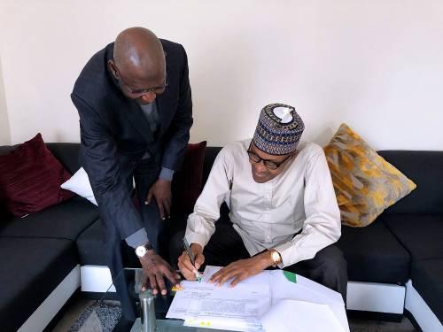 Abba Kyari Ignores Osinbajo In Nigeria, Takes Bill To Buhari In London To Sign 1