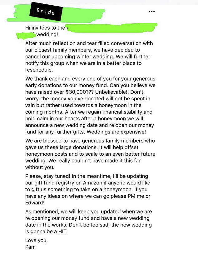 Couple Cancel Their Wedding After Raking N10 Million In Donations, Asks Family And Friends For More Money 2
