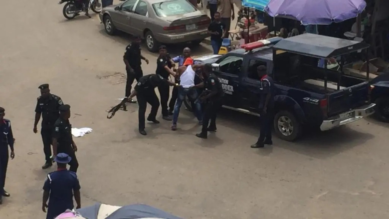Man And His Girlfriend Arrested After Spending A Night Inside Sterling Bank's Toilet In Delta 1
