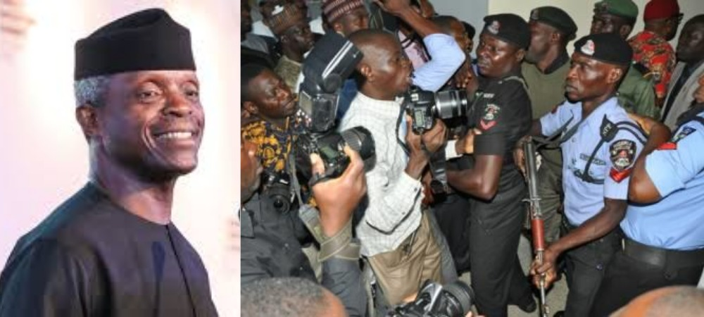 VP Osinbajo's Security Aides Beats Up Vanguard Journalist During An Event In Aso Rock 1