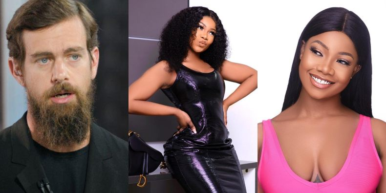 Twitter CEO, Jack Dorsey Follows Tacha On Twitter As The Second Nigerian On His List 1