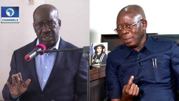 """""""I Will Show You That Mosquito Can Cause Malaria, And Kill"""" - Obaseki Threatens Oshiomhole 3"""