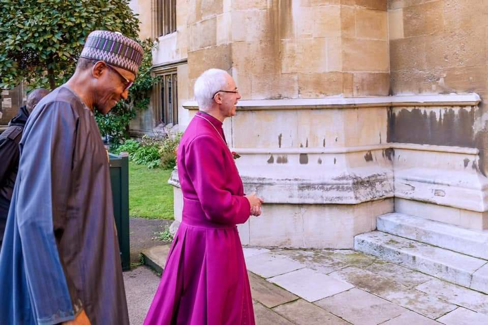 President Buhari Pays Visit To The Arch-Bishop Of Canterbury In London [Photos] 1