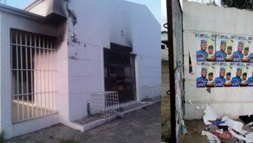 Tension In Kogi As Suspected APC Thugs Attack, Burn Down SDP Secretariat [Photos] 5