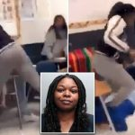 Angry Female Teacher Caught On Camera Brutally Beating A 15-Year-Old Student [Video] 28