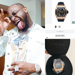 Davido Buys Wristwatch Worth N54 Million, Says The Price Hurt His Bank Account [Photo] 2