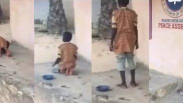 Nigerians Reacts As Muslim Almajiri Boy Spotted Praying In Front Of Redeem Church [Video] 6