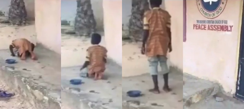 Image result for Young Muslim boy spotted praying in front of a church, Nigerians react