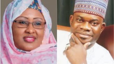 Kogi Guber: Aisha Buhari Begs Kogi People To Forgive Yahaya Bello For Not Paying Salaries 7