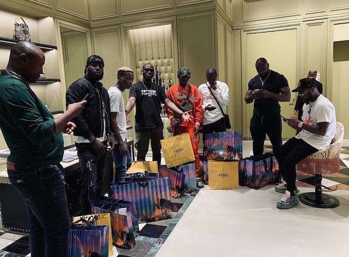 Davido Takes Zlatan, Lil Frosh And All His Crew Members On Shopping Spree In Dubai [Video] 1