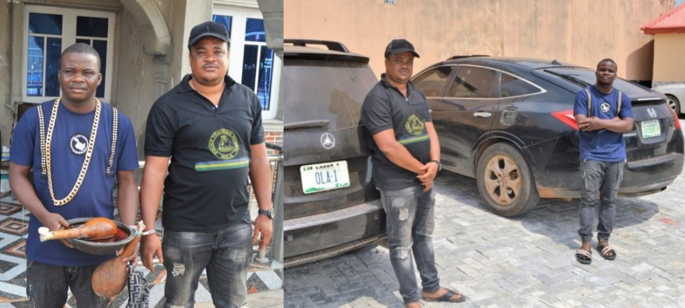 Two Blood Brothers Arrested For Defrauding 'Yahoo Boys' Using EFCC's Name [Photos] 1