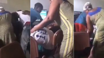 Nigerian Mum Storms Betting Centre, Beats Gambling Addiction Out Of Her Son [Video] 2