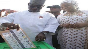 Kogi Election: Governor Yahaya Bello Casts His Vote, Commends INEC For A Good Job 6