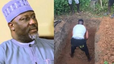 Dino Melaye Buries His Nephew Who Was Shot Dead By APC Thugs During Kogi Election [Video] 2