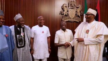 """""""President Buhari Has A New Baby Boy"""" – APC Chairman, Adams Oshiomhole Announces 8"""