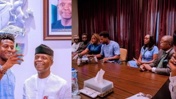 Silas Adekunle: Nigerian Who Built World's First Gaming Robots, Meets Osinbajo [Photos] 1