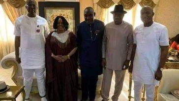 New Bayelsa APC Governor, David Lyon Visits Goodluck Jonathan And His Wife [Photos] 5