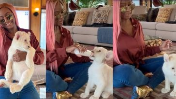 DJ Cuppy Becomes A Mum In Dubai, Introduces Her First Born 'Baby Lion' To The World [Photos/Video] 4
