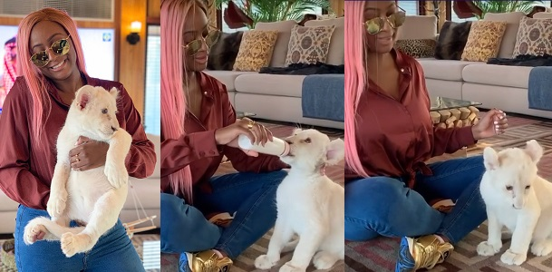 DJ Cuppy Becomes A Mum In Dubai, Introduces Her First Born 'Baby Lion' To The World [Photos/Video] 1