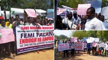Nigerians Protest In Abuja Against Femi Falana For Criticising Security Agencies [Photos] 8