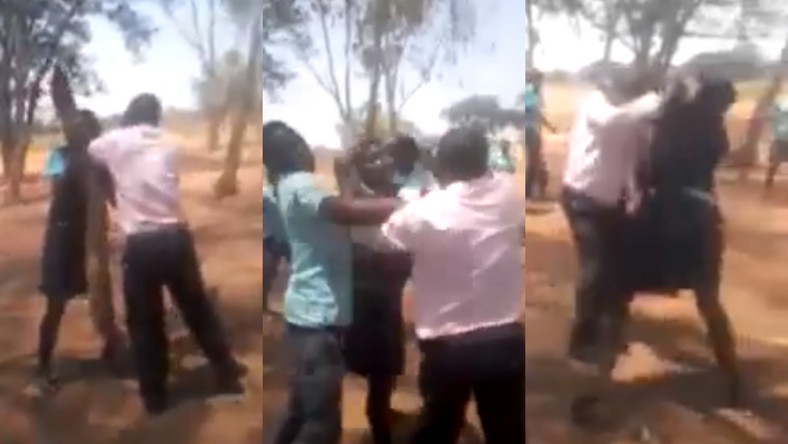 Secondary School Female Student Seen Exchanging Blows With Her Teacher In Public [Video] 1