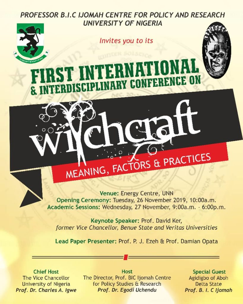 """""""Christians Cannot Stop Our Witchcraft Conference"""" - Organizer Says As UNN Cancels Venue 1"""