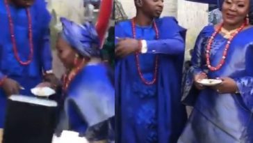 Yoruba Man Stops Wife From Kneeling Down To Feed Him On Their Wedding Day [Video] 9