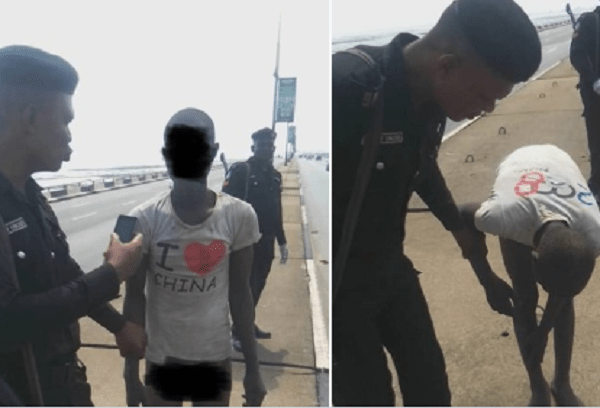 Police Rescues Young Man Attempting To Jump Into Lagoon At 3rd Mainland Bridge In Lagos 1