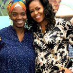 Michelle Obama Pays A Visit To Dora Akunyili's Daughter, Njideka Crosby In Her Studio 28